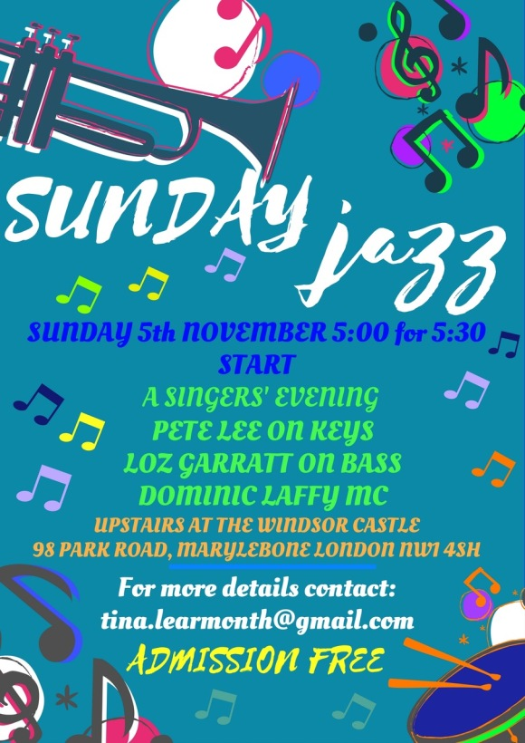 Sunday Jazz Poster November 2017