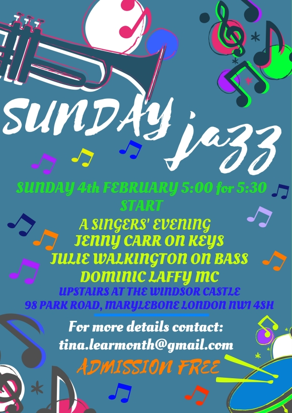 Sunday Jazz Poster February 2018